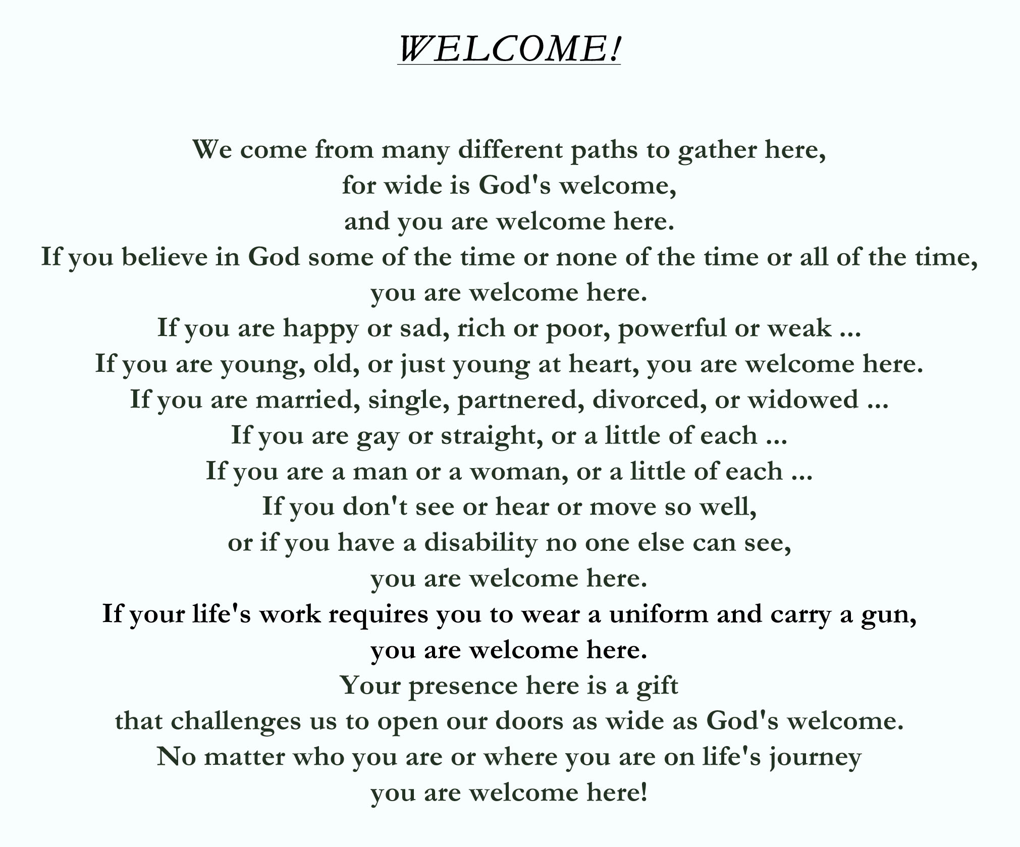 WELCOME STATEMENT final